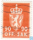 Postage Stamps - Norway - 1969 OFF. I phosphorescent SAK 90