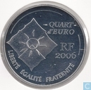"France ¼ euro 2006 ""10 years yellow TGV coins for the speed train"""