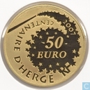 "France 50 euro 2007 (BE) ""100th anniversary of the birth of Georges Remi - alias Hergé"""