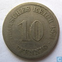 Empire allemand 10 pfennig 1874 (A)