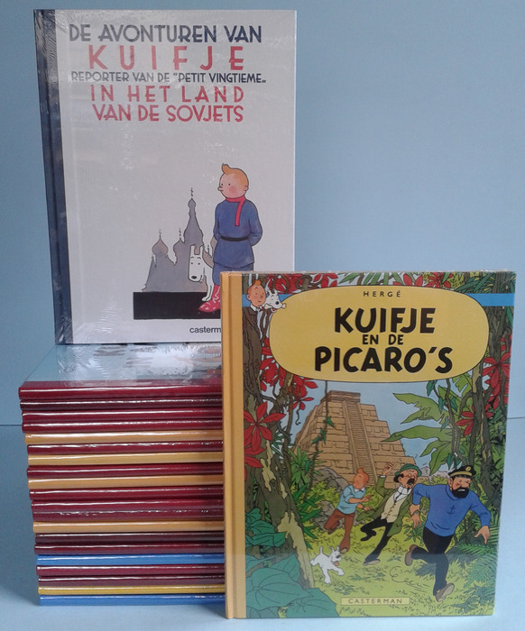 Kuifje facsimile series 1 through 22 + Kuifje bij de Sovjets facsimile - 23x hc - (2007 / 2012)