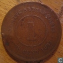 Straits Settlements 1 cent 1883