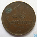 Latvia 1 santims 1922