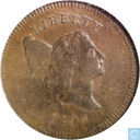 USA 1 / 2 Cent 1795 Plain Rand kein Pol