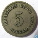 German Empire 5 pfennig 1874 (B)