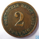 Empire allemand 2 pfennig 1873 (A)