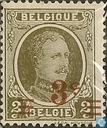 King Albert I (type Houyoux), with overprint