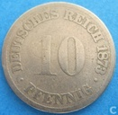 Empire allemand 10 pfennig 1873 (C)