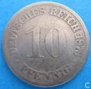 Empire allemand 10 pfennig 1873 (D)