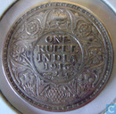 British India 1 rupee 1916 (Calcutta)
