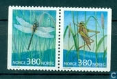 Briefmarken - Norwegen - Insekten