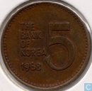 South Korea 5 won 1968