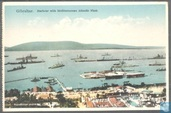 Gibraltar, Harbour with Mediterranean Fleet