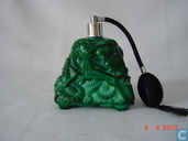 Czechoslovakian Art Glass-Malachite parfumverstuiver