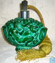 Czechoslovakian Art Glass-Malachite verstuiver