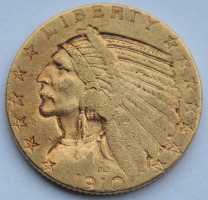 United States - 5 Dollar 1910 D (Half Eagle) Indian Head gold