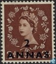 Queen Elizabeth II with print