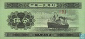 Banknotes - Peoples Bank of China - China 5 Fen