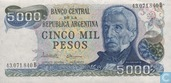 Banknotes - 1976-83 ND Issue - Argentina 5000 Pesos 1977