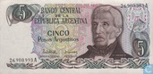 Banknotes - 1983-85 ND Issue - Argentina 5 Pesos Argentinos 1983