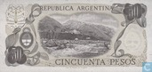 Banknoten  - 1976-83 ND Issue - Argentinien 50 Pesos 1976