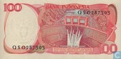Banknotes - Indonesia - 1984-1988 Issue - Indonesia 100 Rupiah 1984 (P122b)