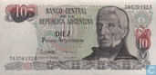 Billets de banque - 1983-85 ND Issue - Argentine 10 Pesos Argentinos 1983