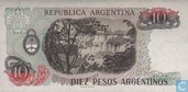 Banknotes - 1983-85 ND Issue - Argentina 10 Pesos Argentinos 1983