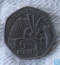 Seychelles 5 rupees 1976 (copper-nickel)