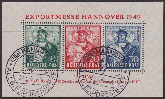 Germany alied occupation 1949 export messe hannover for Hannover souvenirs