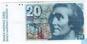 Switzerland 20 Francs 1990