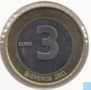 "Slovénie 3 euro 2011 ""20th anniversary of Independence"""