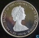"Îles Turques et Caïques 25 crowns 1978 (PROOF) ""White Lion of Mortimer"""