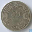 British Honduras 50 cents 1911
