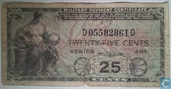 U. S. Army 25 Cents Military Payment Certificate Series 481