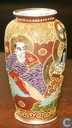 Antique Japanese Satsuma vase  small Fine Meiji Period H 100 mm B 55 mm