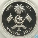 "Malediven 250 Rufiyaa 1990 (PROOF - year 1410) ""The Maldivian Schooner"""