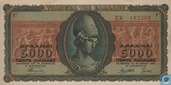 Greece  5000 Drachmen 1943