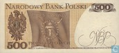 Banknotes - Poland - 1952-1989 People's Republic - Poland 500 Zlotych 1982