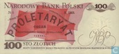 Banknotes - Poland - 1952-1989 People's Republic - Poland 100 Zlotych 1986