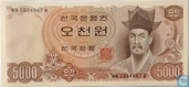 Zuid-Korea 5000 Won