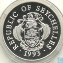"Seychellen 25 Rupees 1993 (PROOF) ""250th Anniversary of the first French on Seychelles"""