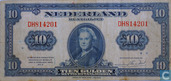 10 Guilder coin note 1943