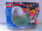 Lego 7924 Soccer player red