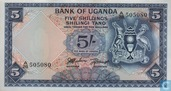 Ouganda 5 Shillings ND (1966)