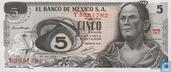 Mexique 5 pesos