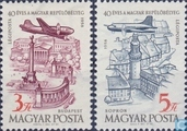 40 years of air-mail stamp