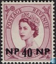 English stamps with overprint