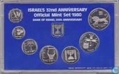 Israel mint set 1980 (year 5740 - hard plastic case)