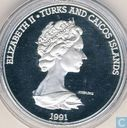 "Turks and Caicos 20 crowns 1991 (PROOF) ""Ship Nina"""